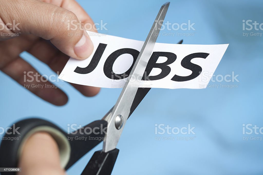 cutting jobs royalty-free stock photo