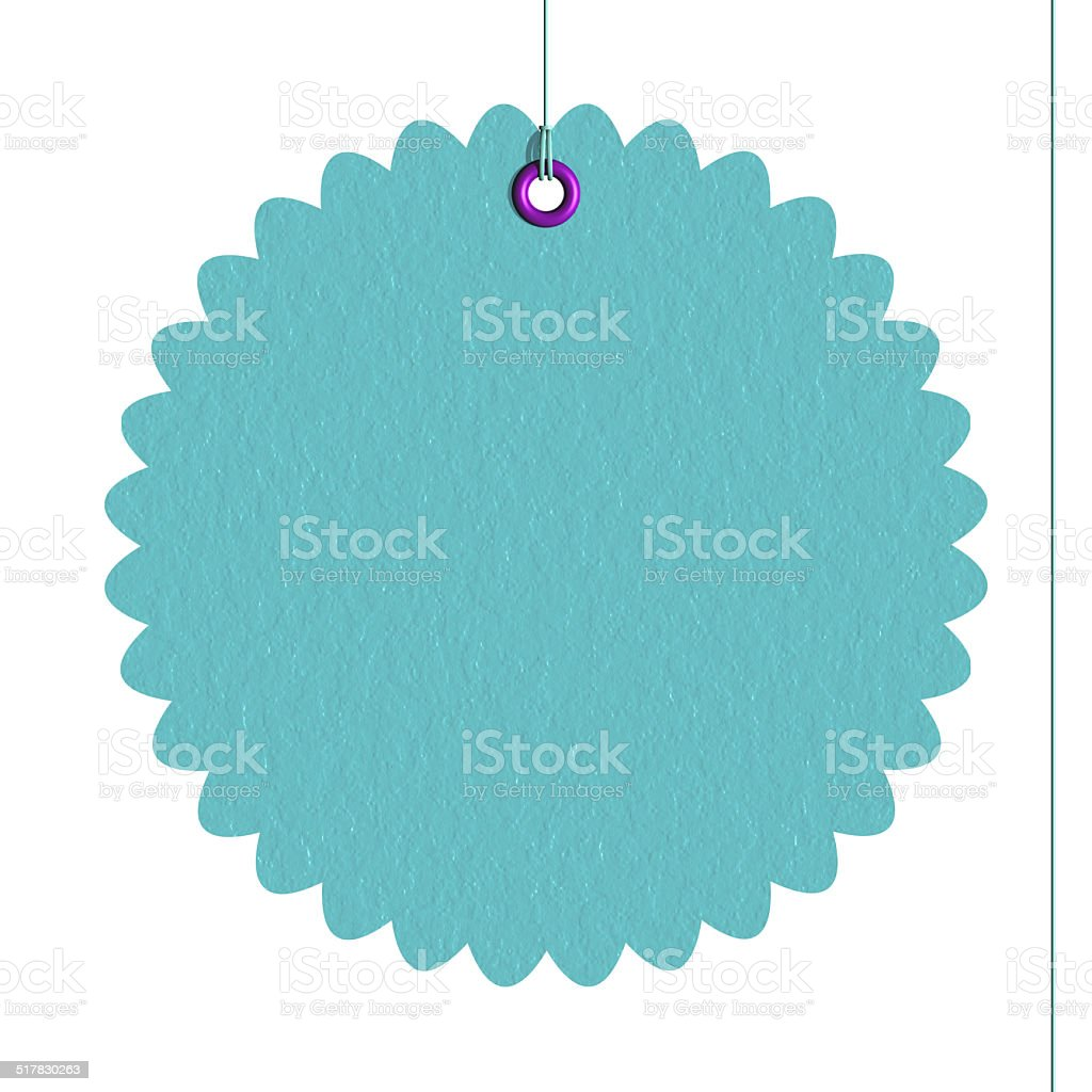 Cutting lace paper label stock photo