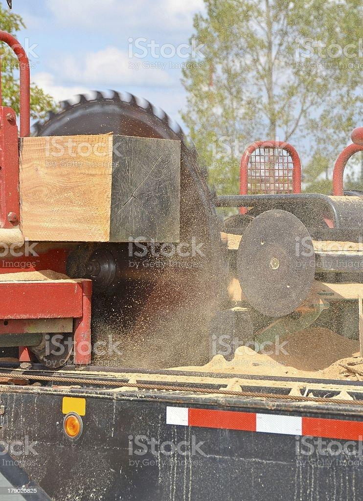 Cutting Lumber royalty-free stock photo