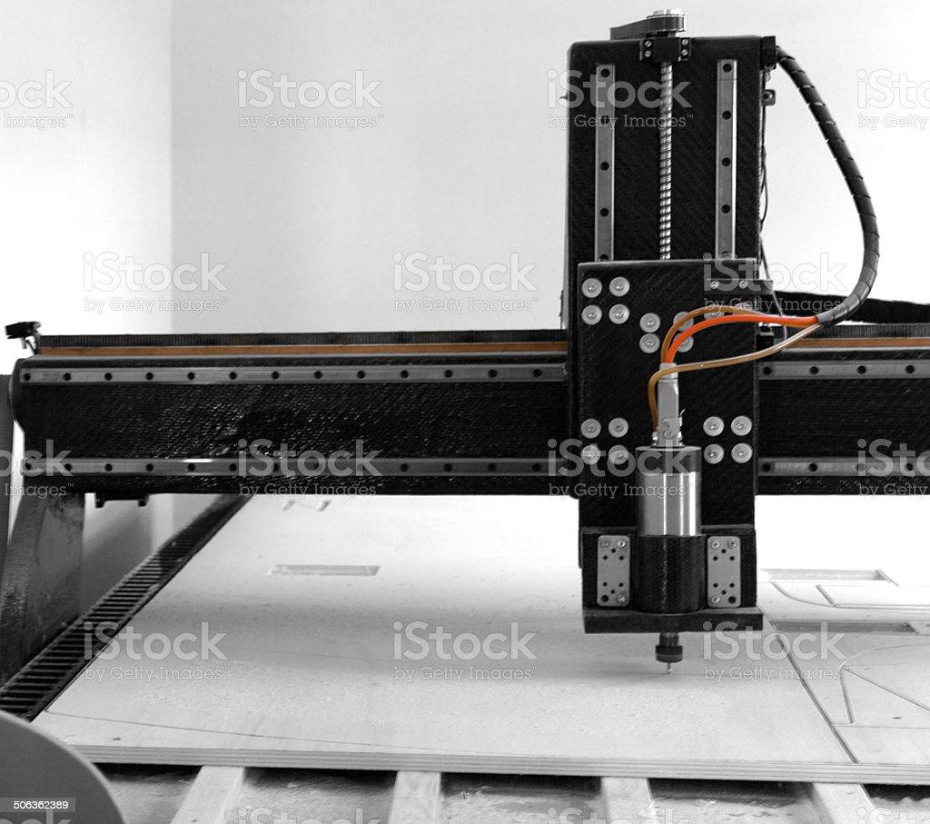 Cutting machine. cnc stock photo