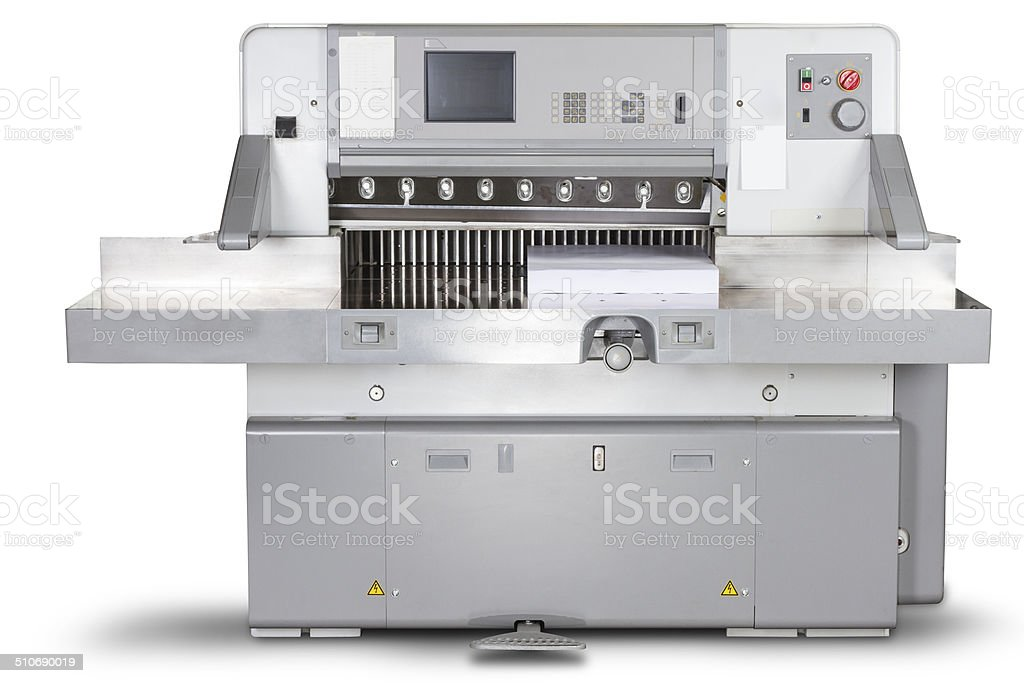 Cutting machine isolated with clipping path stock photo