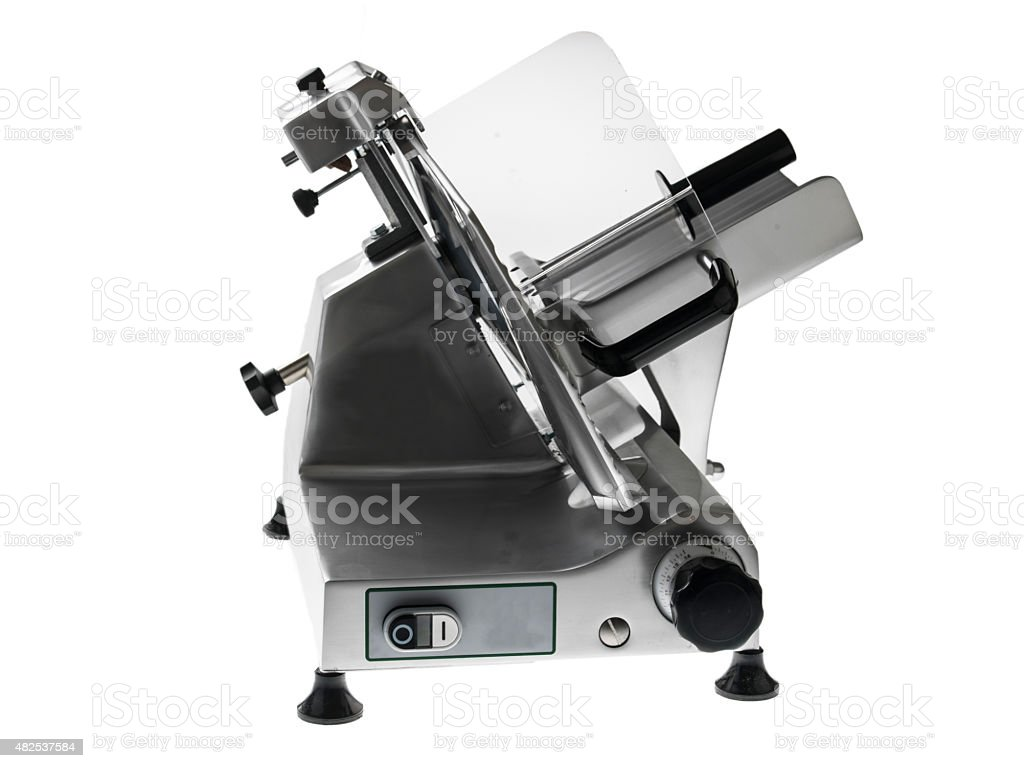cutting machine on the white background stock photo