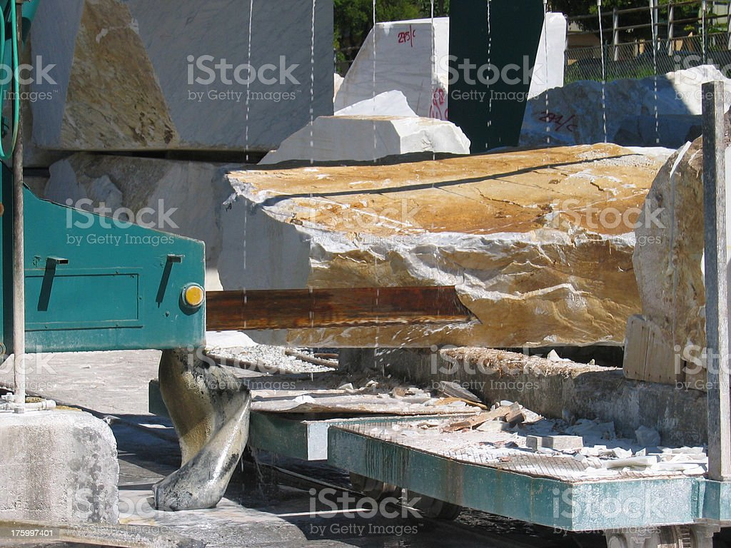 Cutting Marble stock photo