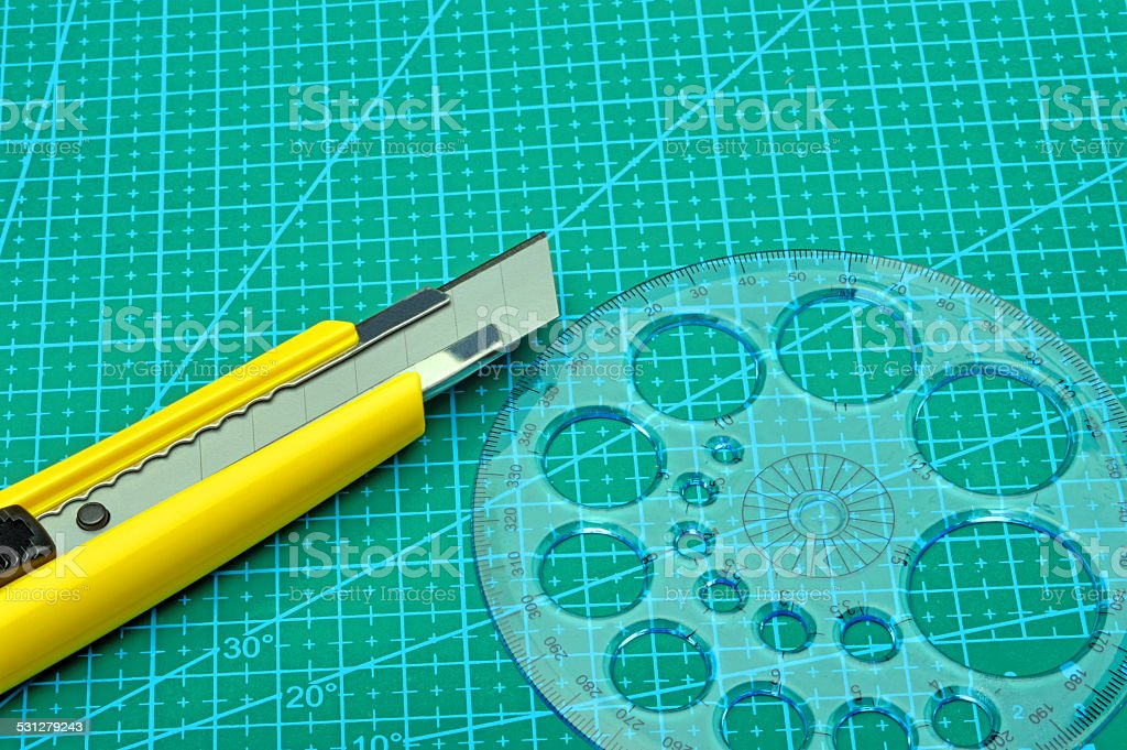 cutting mat stock photo