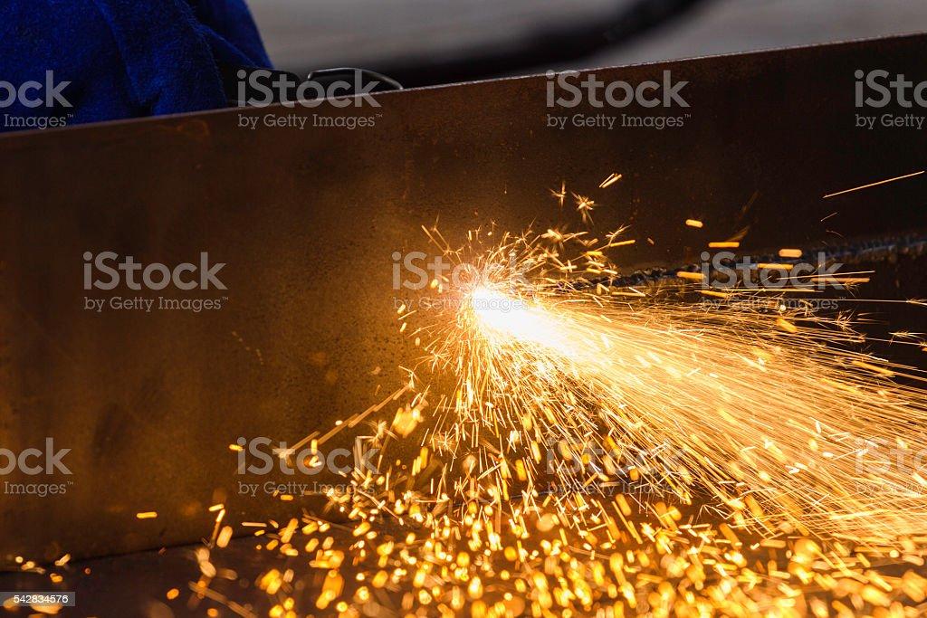 cutting metal stock photo