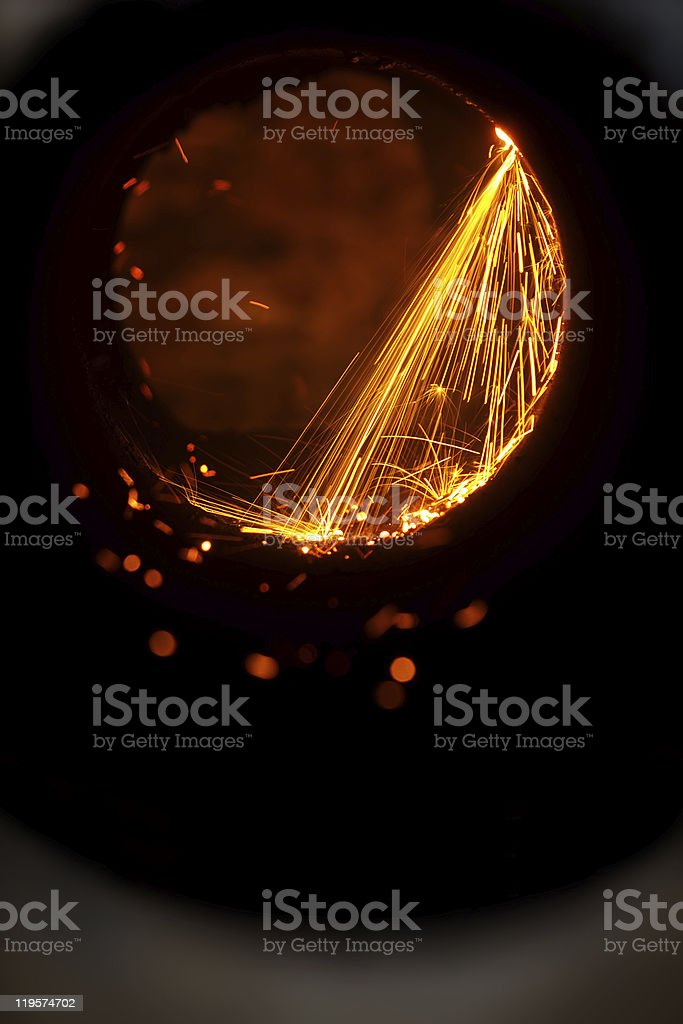 Cutting  metal     torch stock photo