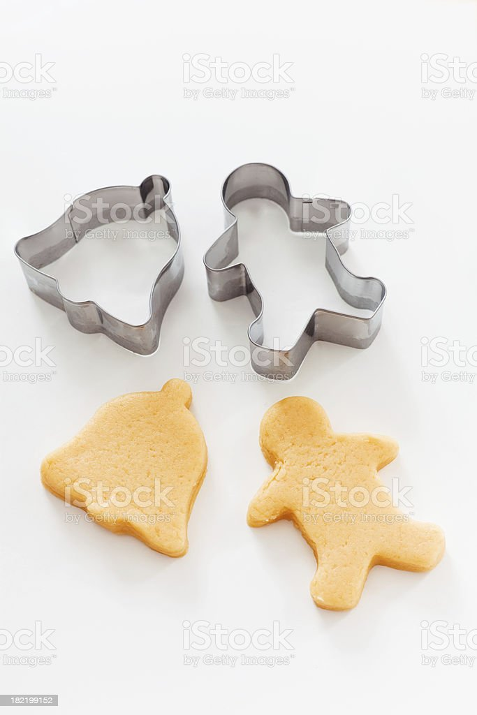 Cutting out Christmas Cookies royalty-free stock photo