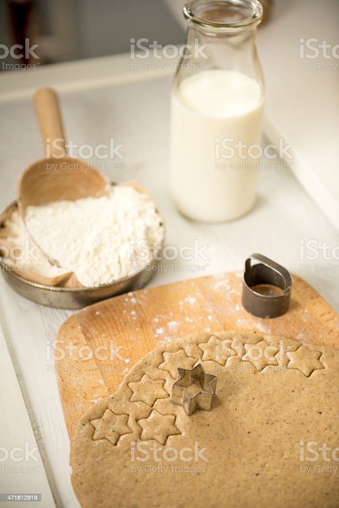 Cutting out Cookies stock photo