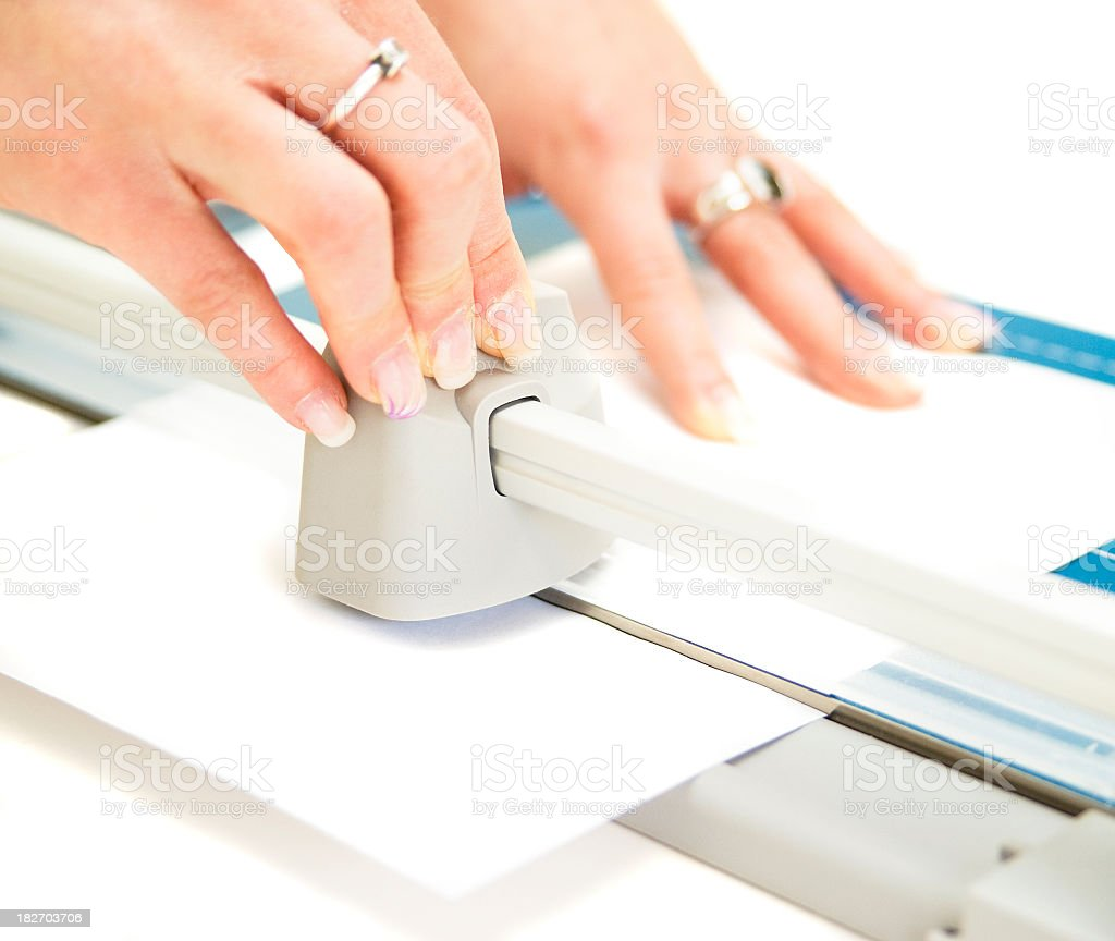 cutting paper stock photo