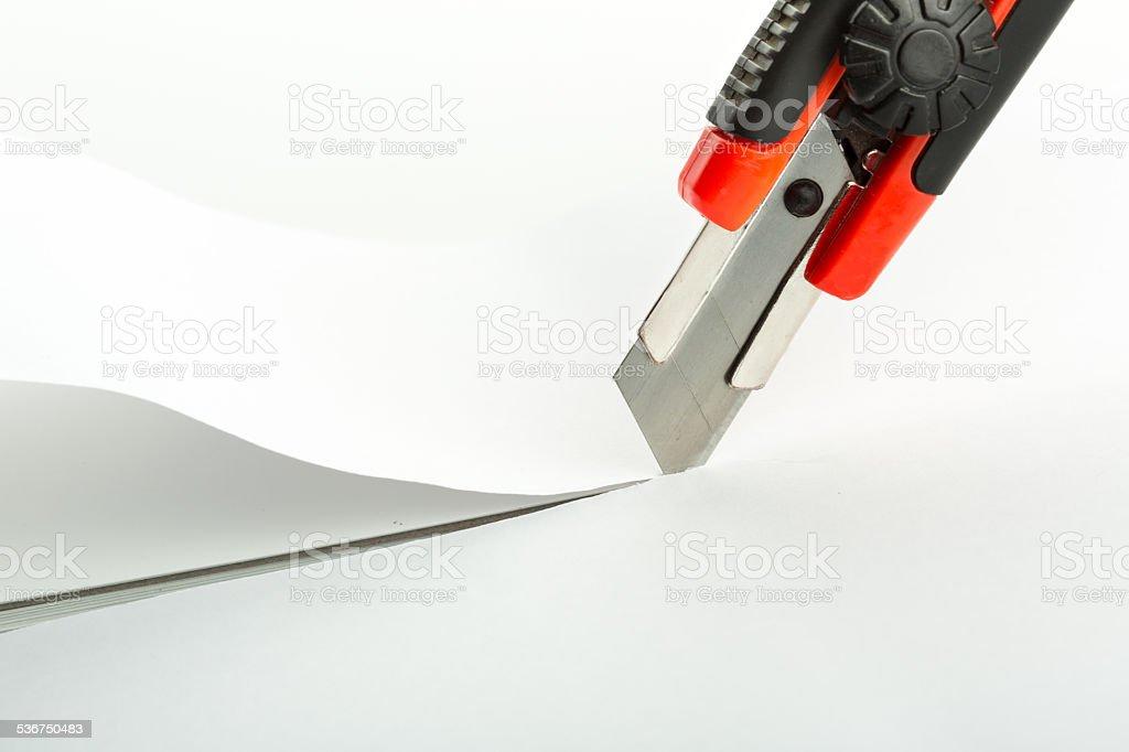 Cutting paper stock photo