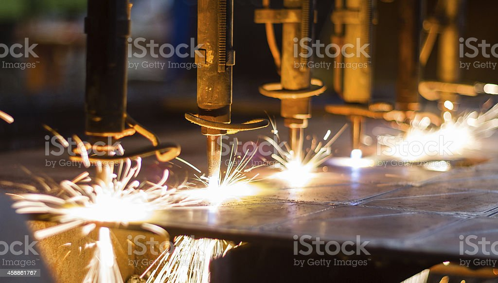 CNC LPG cutting stock photo