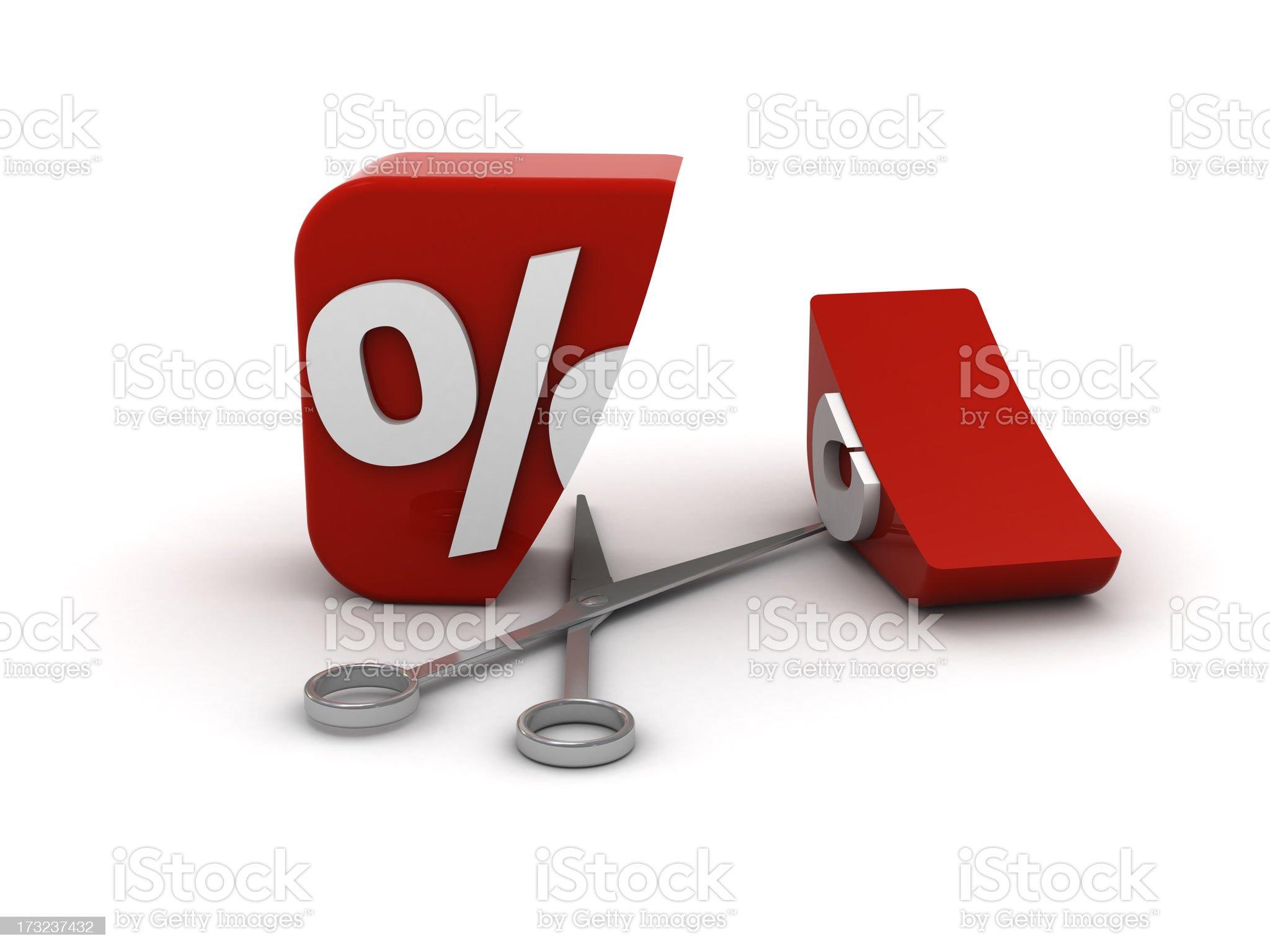 Cutting price royalty-free stock photo