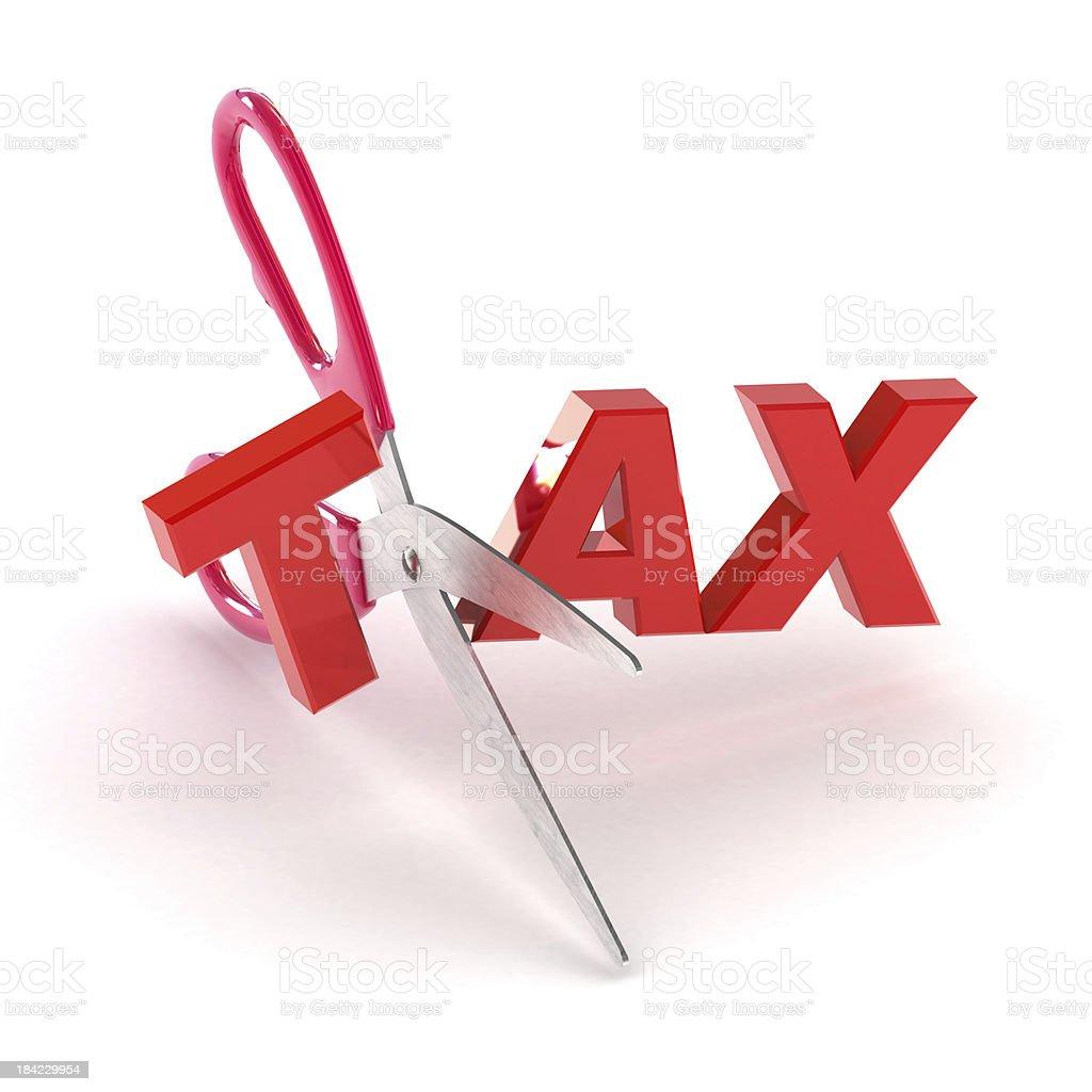 Cutting Tax stock photo