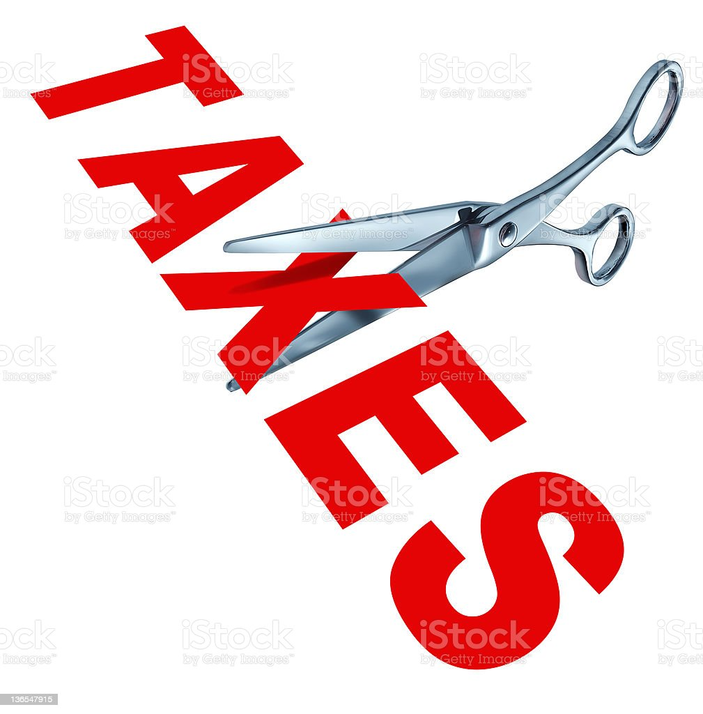 Cutting taxes royalty-free stock photo