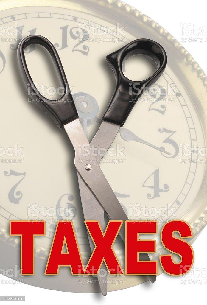 Cutting Taxes. stock photo