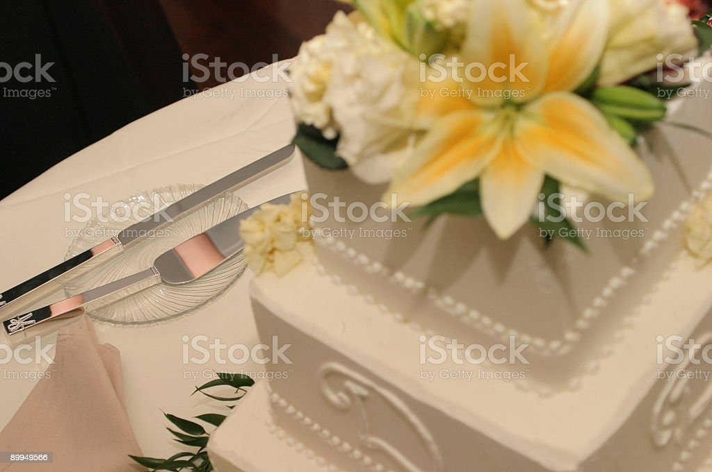 Cutting the cake royalty-free stock photo
