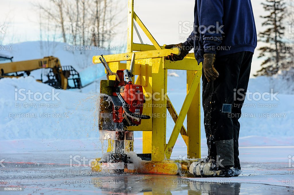 Cutting the Ice stock photo