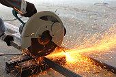 Cutting the steel