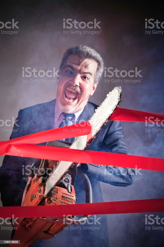 Cutting Through a lot of Red Tape royalty-free stock photo