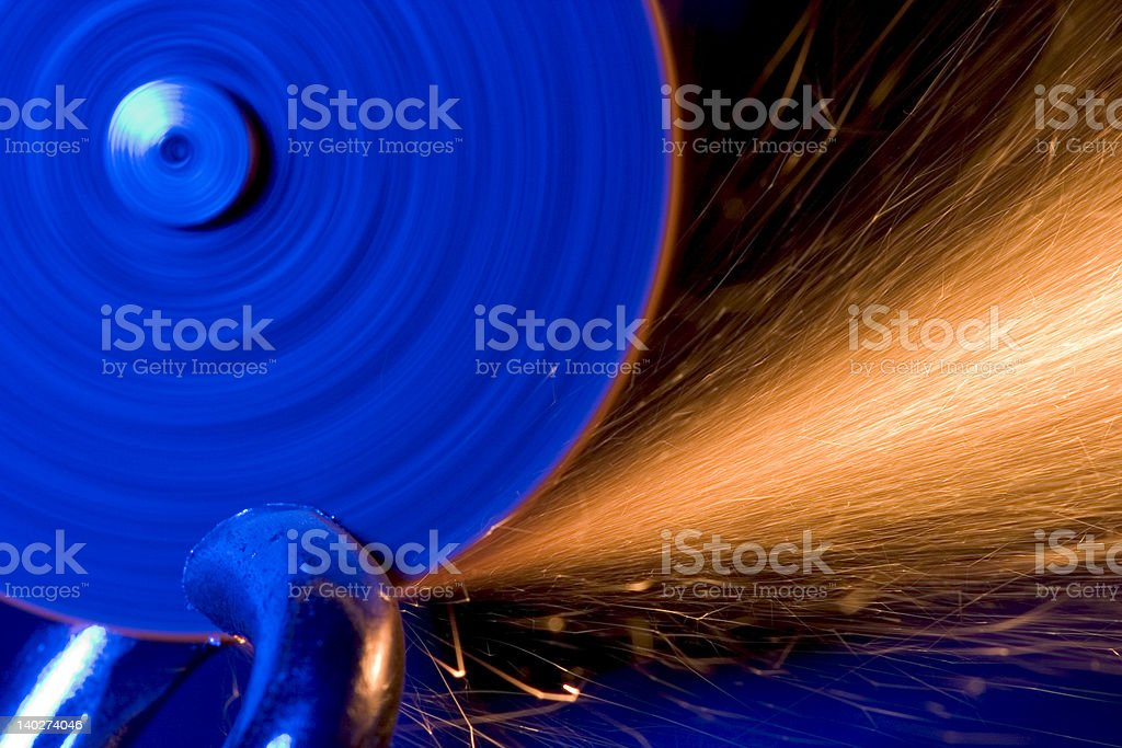 Cutting through the Link royalty-free stock photo