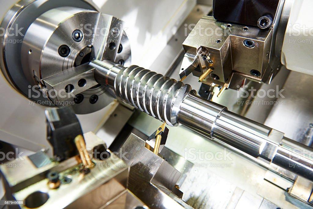 cutting tool at metal working stock photo
