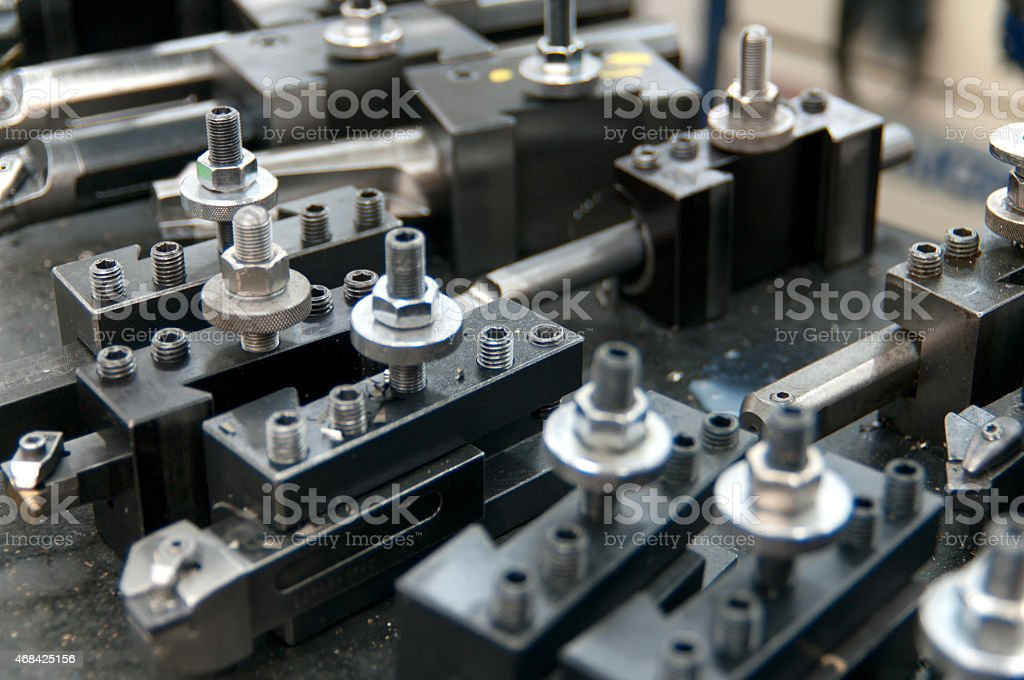 CNC Cutting Tool Holding Clamps stock photo