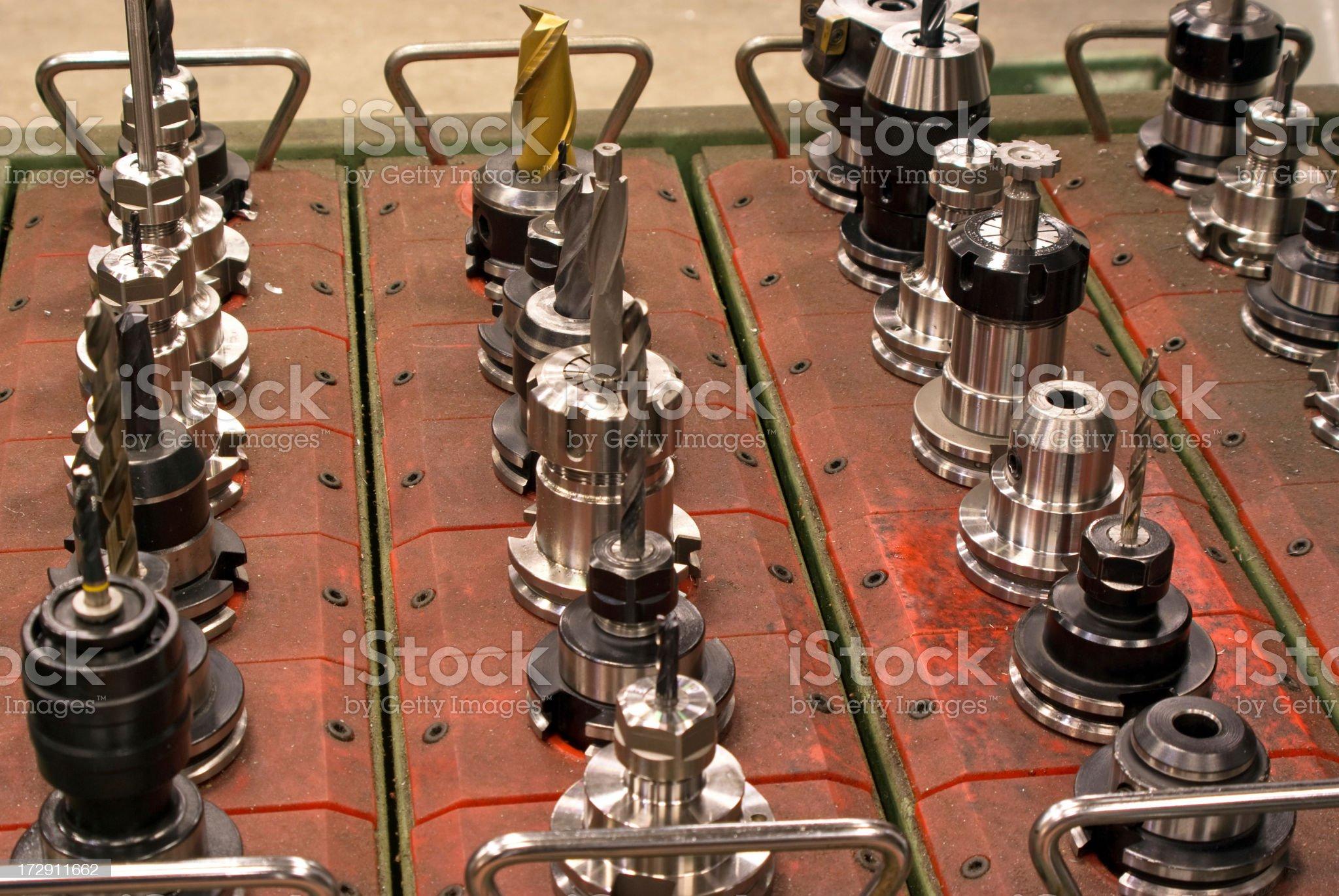 CNC Cutting Tools royalty-free stock photo