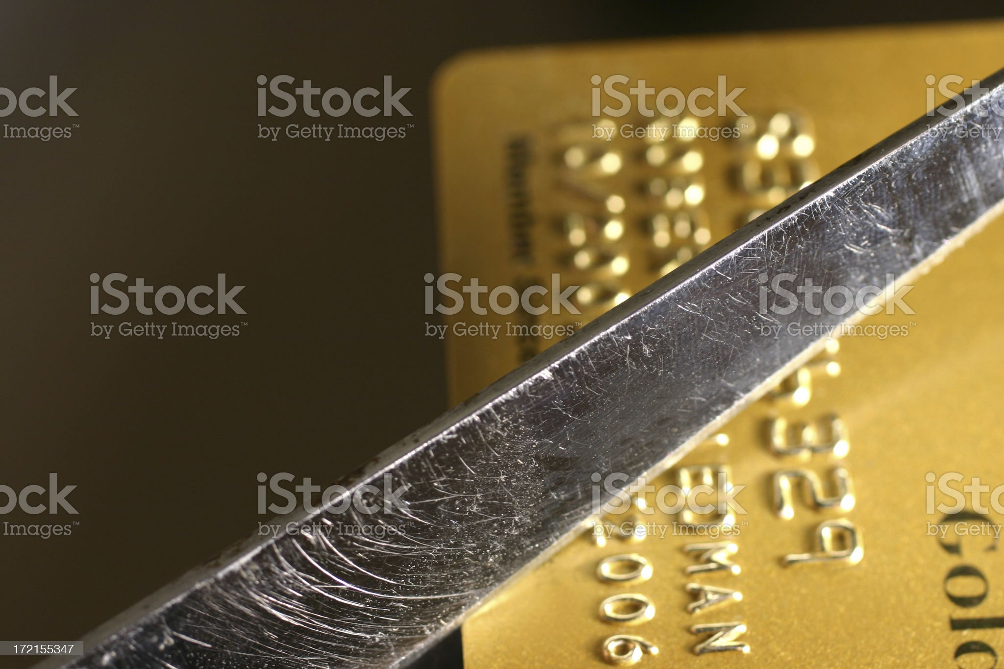 Cutting up Credit Cards royalty-free stock photo