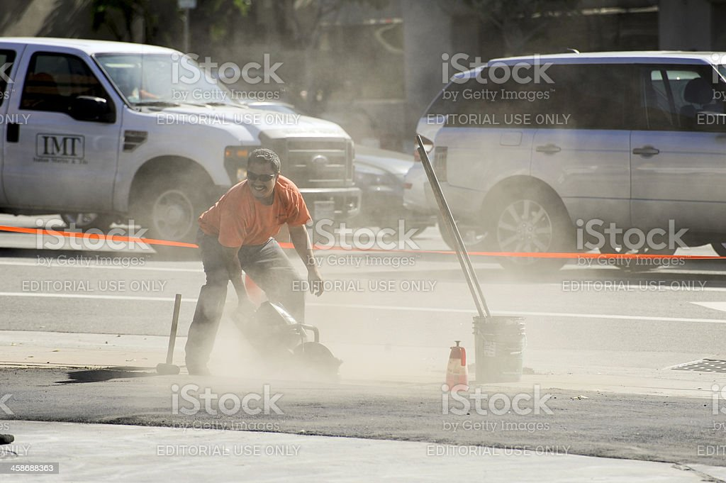 cutting up the sidewalk royalty-free stock photo