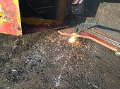 Cutting with a blowtorch