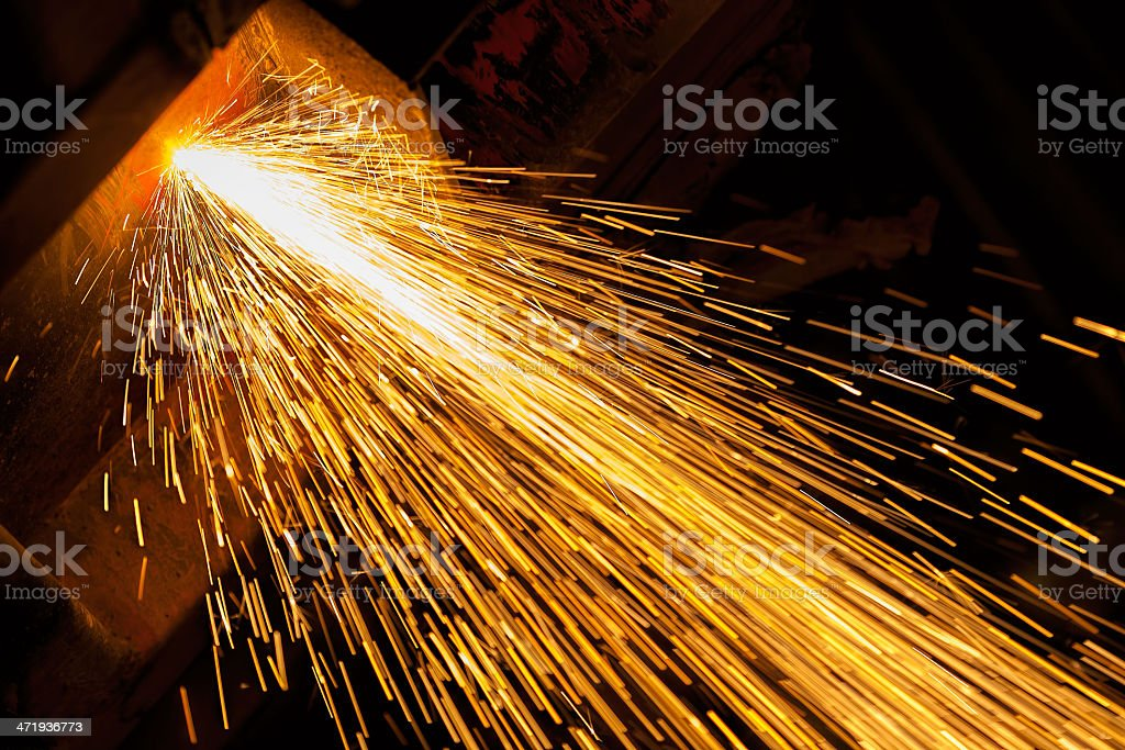 cutting with oxygen-Acetylene welding stock photo