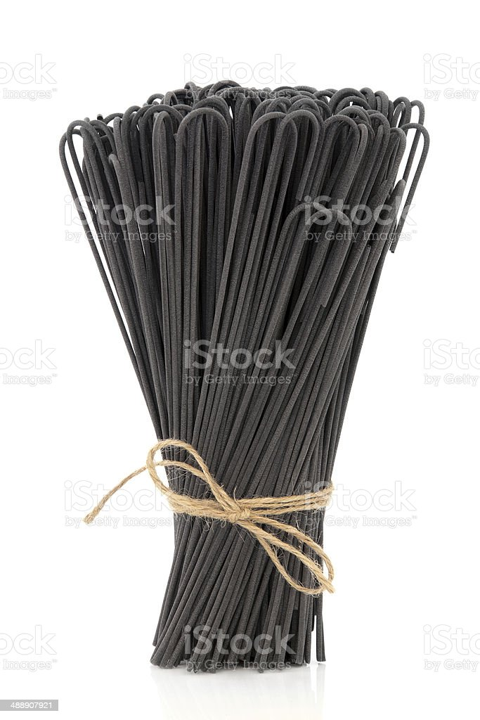 Cuttlefish Ink Spaghetti royalty-free stock photo