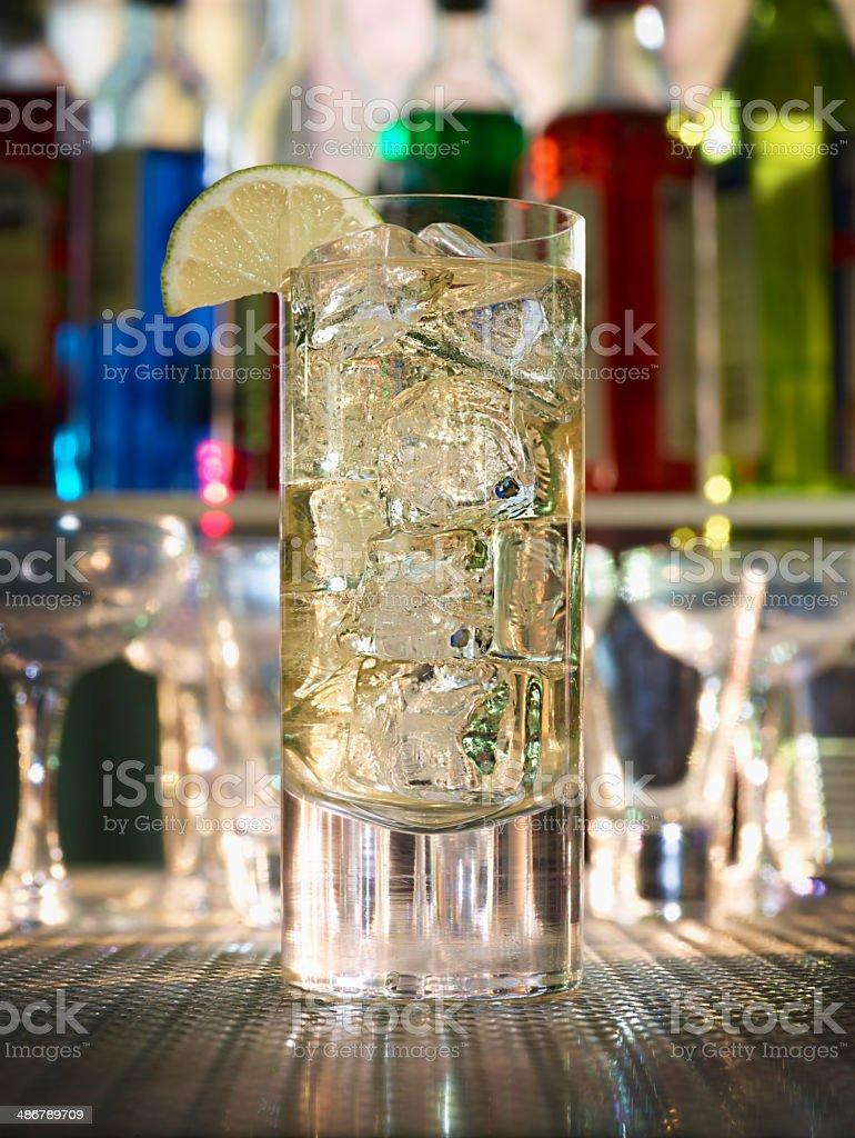 Cutty Rickey Cocktail stock photo