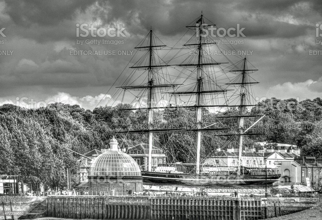 Cutty Sark at Greenwich stock photo