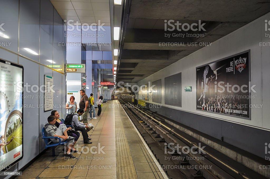 Cutty Sark DLR station stock photo