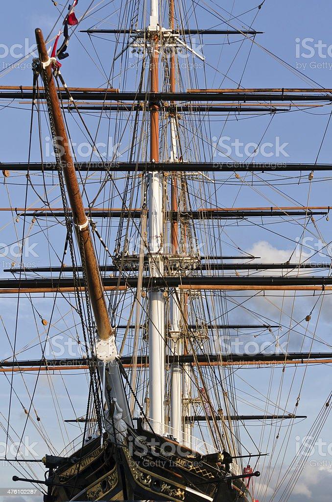 Cutty Sark in dry dock Greenwich stock photo