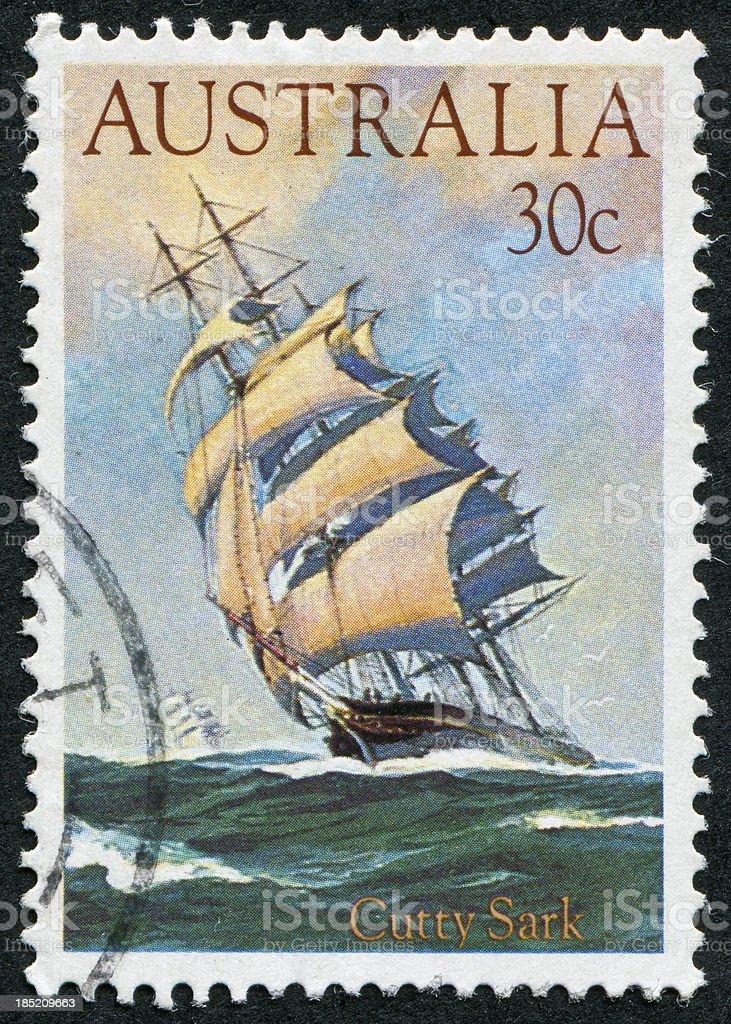 Cutty Sark Stamp stock photo