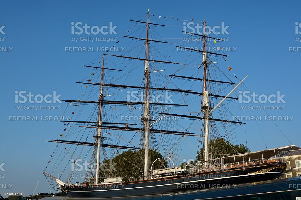 Cutty Sark Tea Clipper at Greenwich, England stock photo