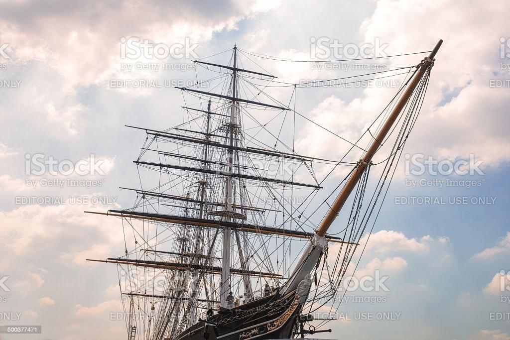 Cutty Sark Tea Clipper Ship stock photo