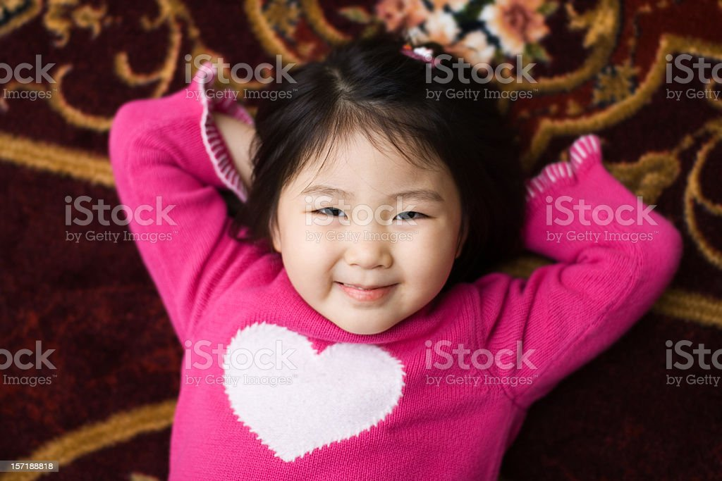 Cuty Valentine's Girl royalty-free stock photo