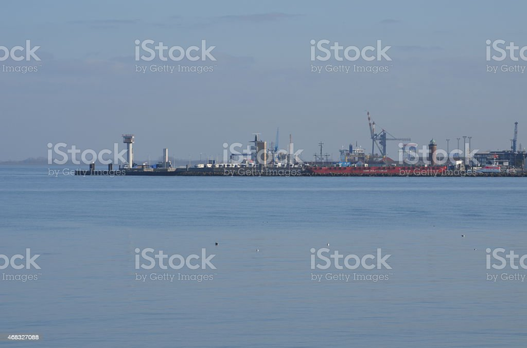Cuxhaven harbour stock photo