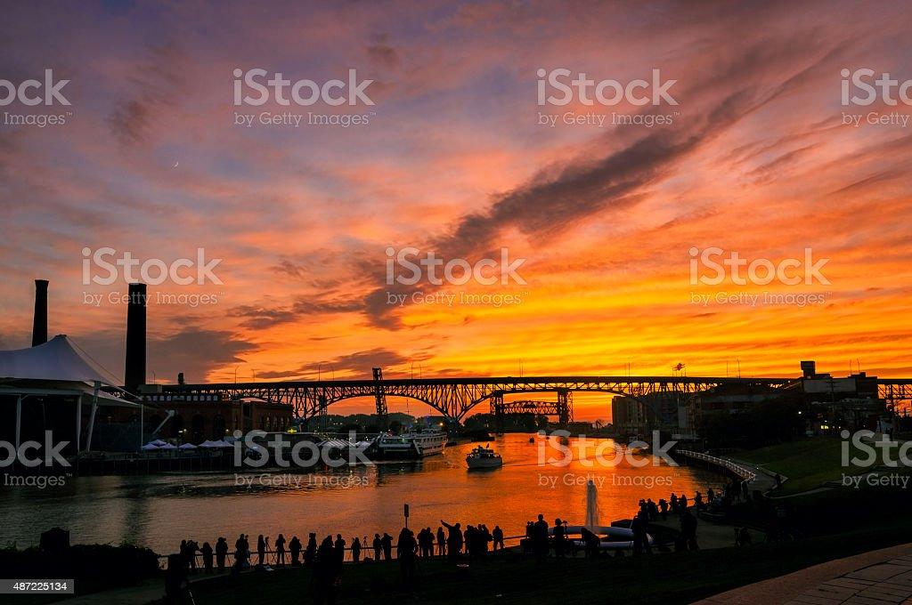 Cuyahoga solstice stock photo
