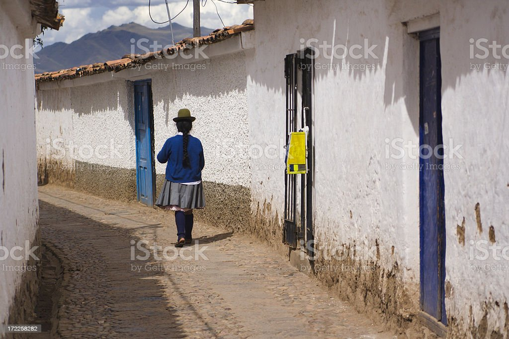 Cuzco Woman royalty-free stock photo