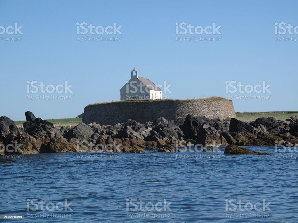 Cwyfan Church, Angledey, Wales stock photo