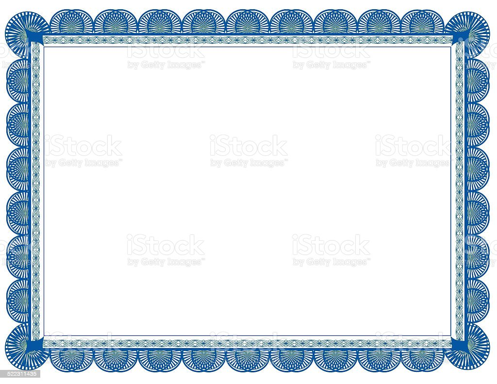 Cyan and Green two toned Document Frame, suitable for printing stock photo