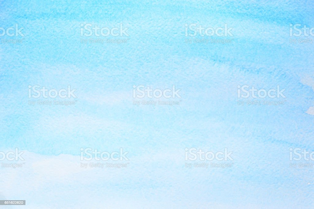 Cyan blue watercolor abstract background stock photo