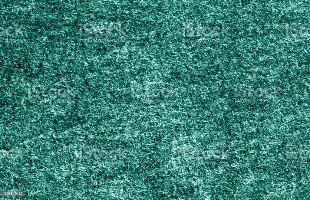 Cyan color felt surface. stock photo