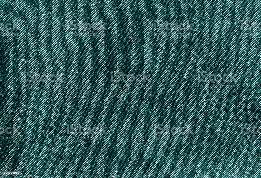 Cyan color textile material pattern. stock photo