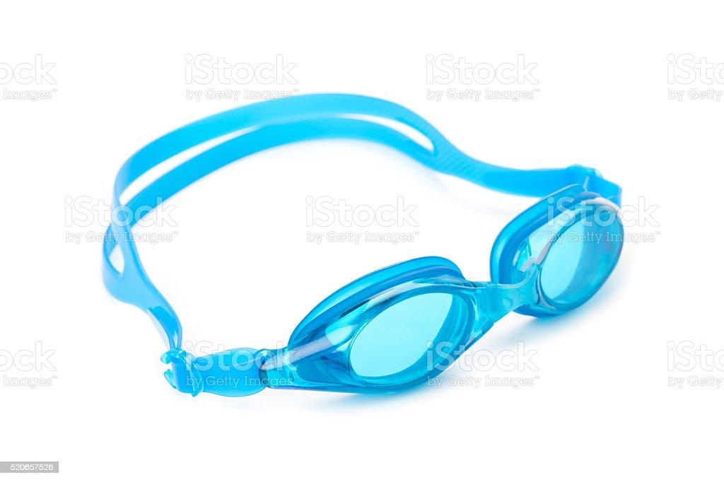 cyan swimming goggles stock photo