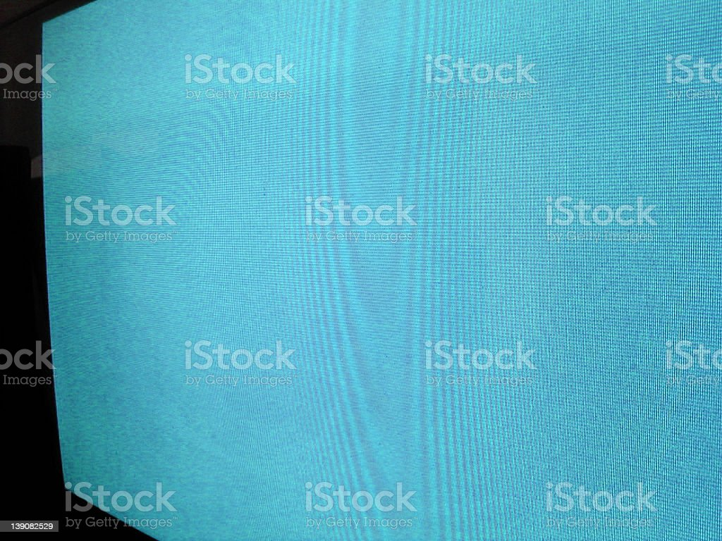 Cyan television stock photo